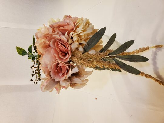 Champagne and blush pink bouquet